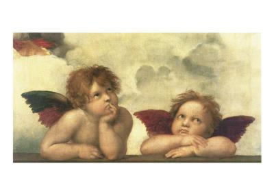 Sistine Madonna Detail-Raphael-Art Print