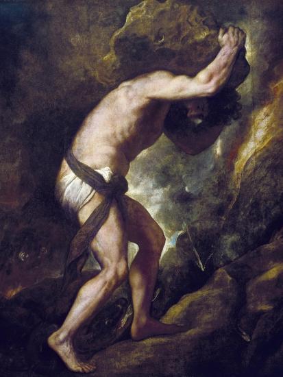 Sisyphus-Titian (Tiziano Vecelli)-Art Print
