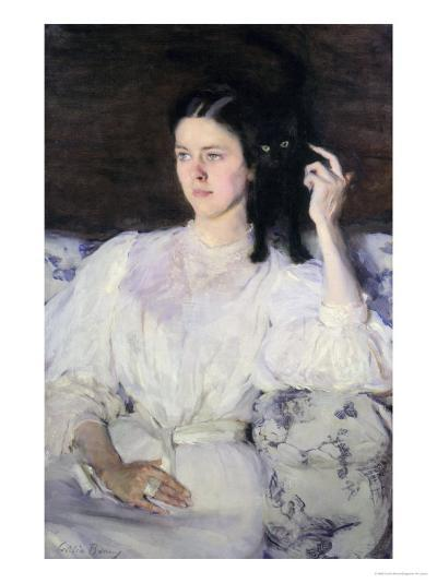 Sita and Sarita, or Young Girl with a Cat, 1893-94-Cecilia Beaux-Giclee Print