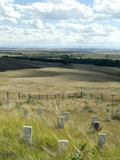 Site of Massacre, Including Where Custer Fell, Little Big Horn, Montana, USA-Ethel Davies-Photographic Print