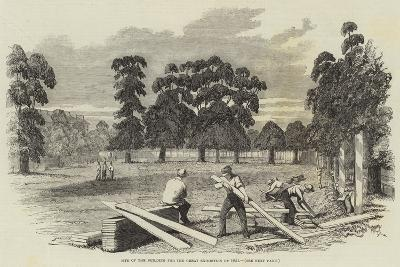 Site of the Building for the Great Exhibition of 1851--Giclee Print
