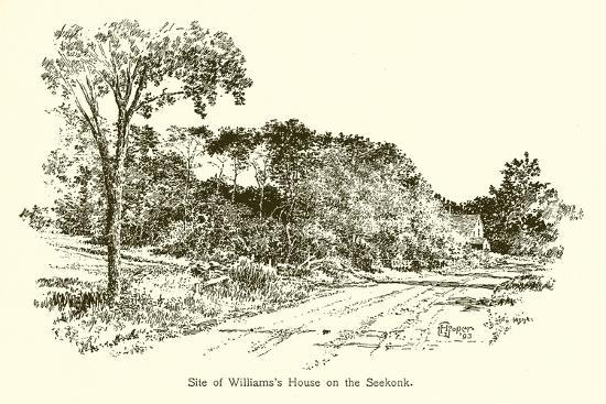 Site of Williams's House on the Seekonk--Giclee Print