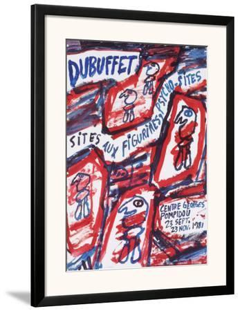 Sites aux Figurines Psycho-Sites-Jean Dubuffet-Framed Art Print