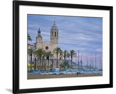 Sitges, Sant Bartomeu I Santa Tecla Church, Catalonia, Spain-Alan Copson-Framed Photographic Print