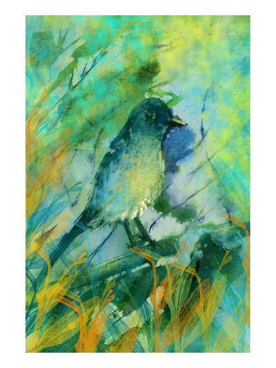 Sitting bird-Claire Westwood-Art Print