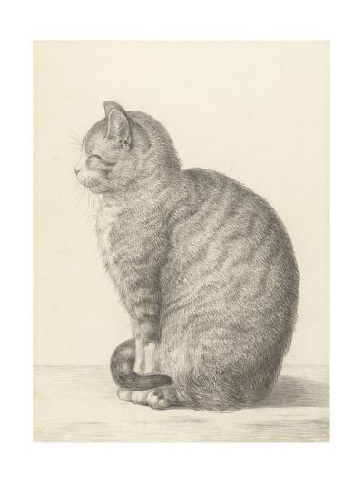 Sitting Cat, Facing Left, 1825-Jean Bernard-Giclee Print