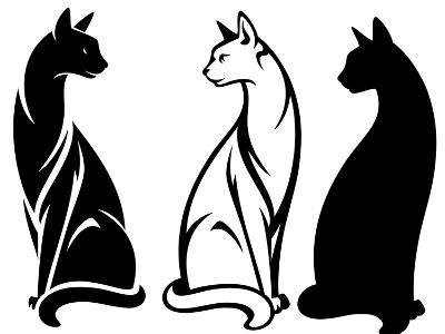 Sitting Cats-Cattallina-Art Print