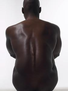 Sitting Male Nude from Behind