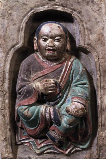 Sitting Monk--Giclee Print