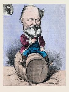 Sitting on a Barrel and Drinking a Glass of Wine