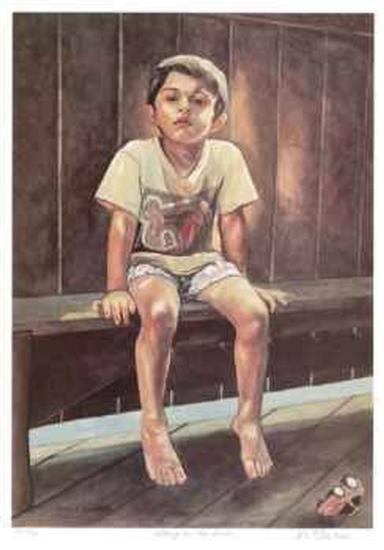 Sitting on the Bench-Neville Clarke-Limited Edition