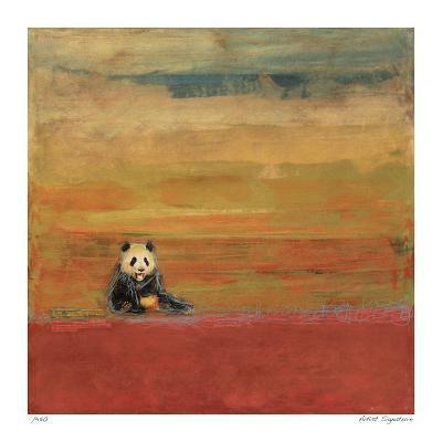 Sitting Panda-Mj Lew-Giclee Print