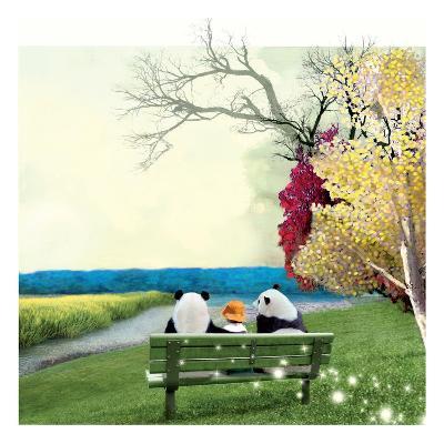 Sitting With Pandas-Nancy Tillman-Art Print