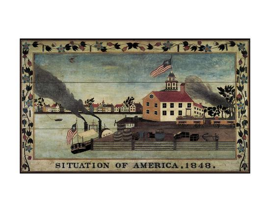 Situation of America, 1848-Unknown Artist-Art Print