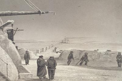 Situation of H.M. Ships Fury and Hecla at Igloolik-Captain George Francis Lyon-Giclee Print