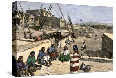Siversmiths at Work in Zuni Pueblo, New Mexico, 1800s