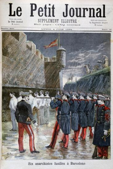 Six Anarchists Executed in Barcelona, 1894--Giclee Print