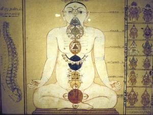 Six Chakras Representing the Plexuses of the Human Body, Tanjore, Tamil Nadu, C1850