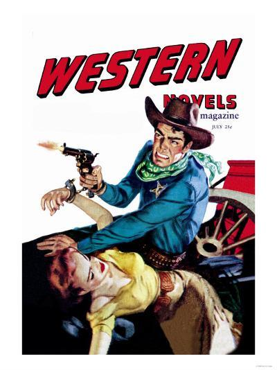 Six Gun Sheriff--Art Print