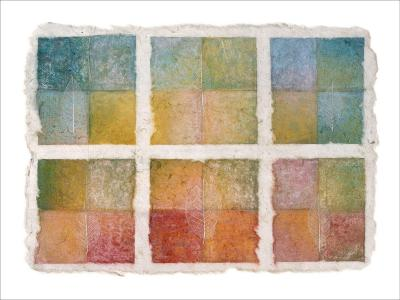 Six Happy Leaves and Natural Notes on Japanese Paper-Miyuki Hasekura-Giclee Print