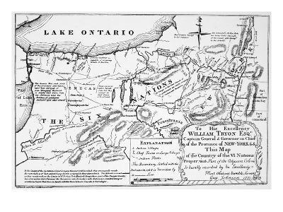 Six Nations: Map, 1771-Guy Johnson-Premium Giclee Print