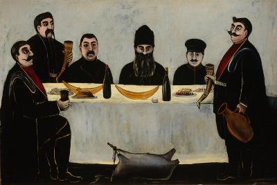 Six Princes (Feas), 1905-1907-Niko Pirosmani-Giclee Print