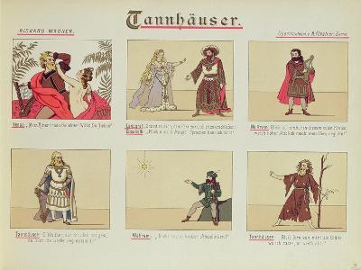 Six Scenes Relating to the Opera 'Tannhauser' by Richard Wagner--Giclee Print