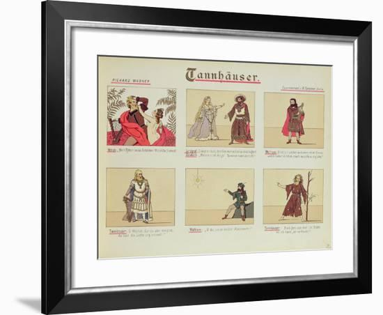 Six Scenes Relating to the Opera 'Tannhauser' by Richard Wagner--Framed Giclee Print