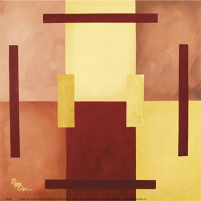 Six Squares with Lines-Peggy Garr-Art Print