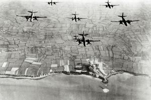 Six U.S. A-20 Bombers Have Bombed German Positions at the Pointe Du Hoc Coastal Battery