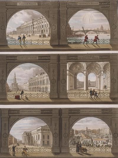 Six Views of London Sites Seen Through an Arch, C1820--Giclee Print