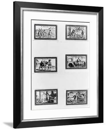 Six Vignettes Depicting Bread Making--Framed Giclee Print