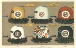Six Zuni Katchina Masks