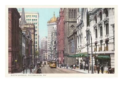 Sixth Avenue, Pittsburgh, Pennsylvania--Art Print