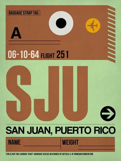 SJU San Juan Luggage Tag I-NaxArt-Art Print
