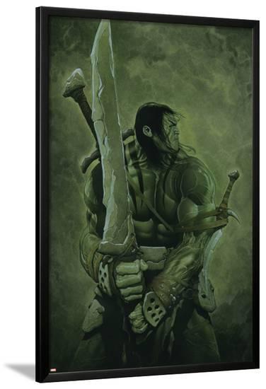 Skaar: Son of Hulk No.11 Cover: Skaar-Travis Charest-Lamina Framed Poster