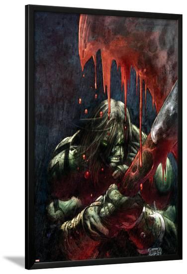 Skaar: Son Of Hulk Presents - Savage World Of Sakaar No.1 Cover: Skaar-Ron Garney-Lamina Framed Poster