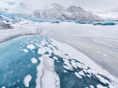 Skaftafelljokull Glacier in Vatnajokull During Winter-Martin Zwick-Photographic Print