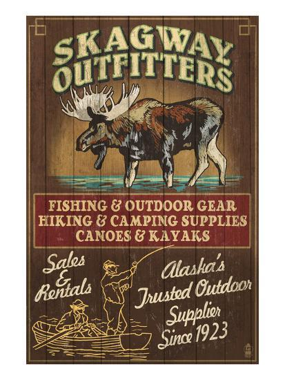 Skagway, Alaska - Moose Outfitters-Lantern Press-Art Print