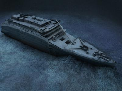 The Stern of the Titanic Lies on the Seafloor by Skaramoosh Ltd
