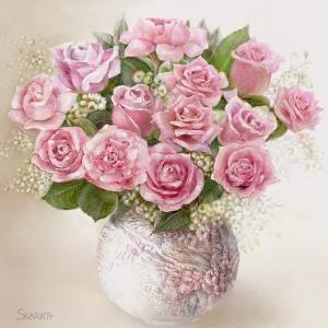 Vase with Roses by Skarlett