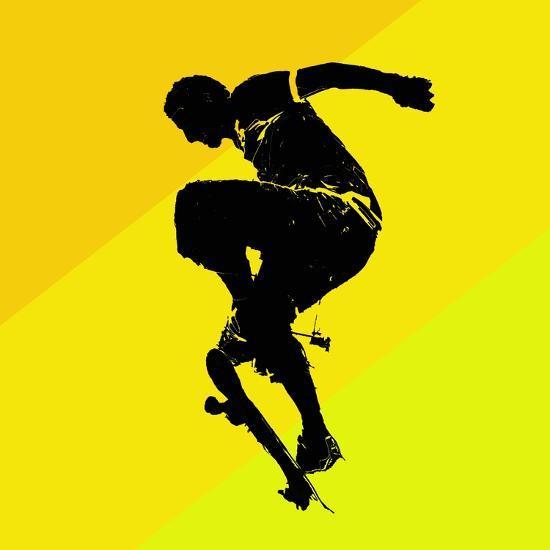 Skate Trick--Giclee Print