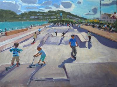 Skateboaders, Teignmouth, 2012-Andrew Macara-Giclee Print