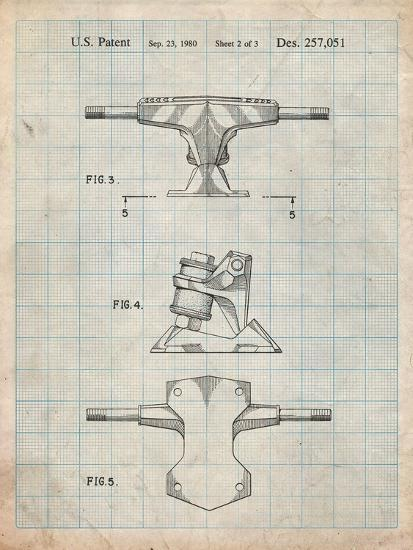 Skateboard Trucks Patent-Cole Borders-Art Print