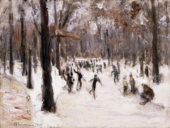 Skaters in the Tiergarten, Berlin; Eislaufer Im Berliner Tiergarten, 1924-Max Liebermann-Giclee Print