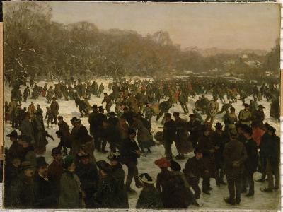 Skating in Haagse Bos-Willem Tholen-Giclee Print