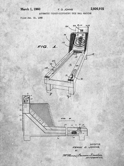Skee Ball Patent-Cole Borders-Art Print