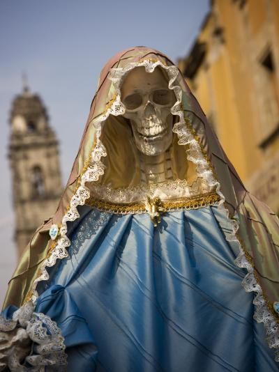 Skeleton Adorned as Virgin Mary-Sean Caffrey-Photographic Print