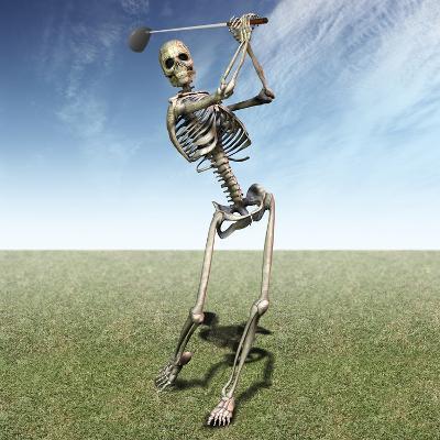 Skeleton Golfing-Carol & Mike Werner-Photographic Print