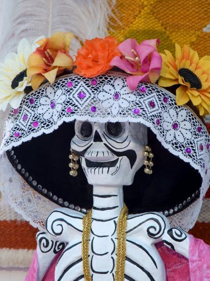 Skeleton on Day of the Dead Festival, San Miguel De Allende, Mexico-Nancy Rotenberg-Photographic Print